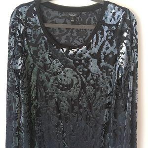 Simply Vera Velvet Mesh Shirt